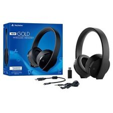 PS4/PS3 Gold Wireless Stereo Headset (Black) (New) (PlayStation 4)