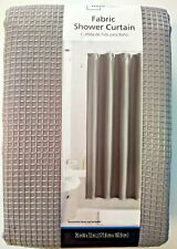 Mainstays Textured Waffle Fabric Shower Curtain Gray 70 in W x 72 in L