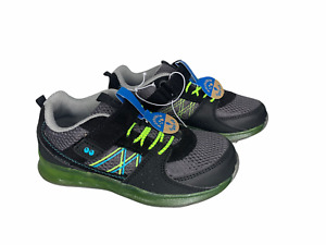 Surprize Stride Rite with memory foam Light-Up Boy's Size 11 Athletic Shoe Black