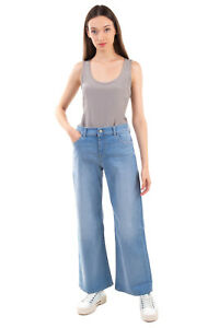 RRP€205 EMPORIO ARMANI Jeans Size 29 Stretch Faded Effect High Waist Regular Fit