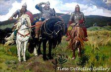 Bogatyrs (Russian Knights) by Viktor Vasnetov - Giclee Art Print