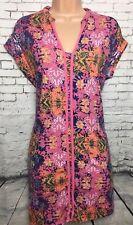 NEXT 8 Vgc Pink Mix Floral Jersey Sleeveless Tunic Mini Dress