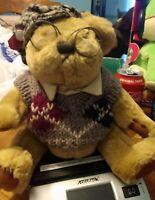 "Pickford Brass Button Bears Sherwood Plush 11"" Bear in Vest Stuffed Animal"