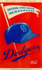 PHOTO OF THE BROOKLYN DODGERS 1957 PROGRAM 6x10 photo