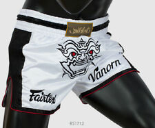 Fairtex Boxing Bs1712 White Shorts Slim Cut Satin Genuine Mma K1 Muay Thai
