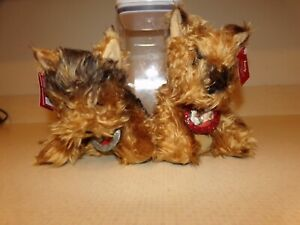 Victoria's Secret Max & Lucy YORKSHIRE YORKIE DOG PLUSH Set 2003 New with Tags.