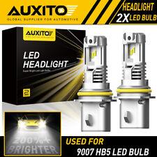 2X AUXITO 9007 HB5 LED Headlight Bulb High Lo Beam 6500K Super Bright M2 24000LM