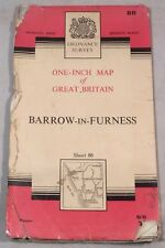 """Collectable Vintage """"Barrow-In-Furness"""" Sheet 88 Ordnance Survey Map c.1965"""