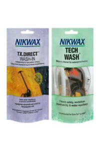 Nikwax Tech Wash & TX Direct 100ml Twin Pack Cleaning and Waterproof Protection