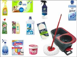 Cleaning Products Clean OCD Household Mop Edible Cake Topper Kit Wafer or Icing