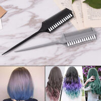 Dual Side Hair Styling Dye Comb Oil Mask Pigment Mixing Tint Coloring Brush JE
