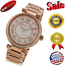 NEW Michael Kors Skylar Crystal Pave Dial ROSE GOLD-TONE Women's Watch MK5868