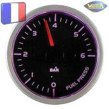 ► Manomètre Racing VEGA® 52mm Pression Essence Tactile 7 couleurs 0-6 bars ◄