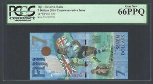 Fiji 7 Dollars 2016 P120 Commemorative Issue Uncirculated Graded 66