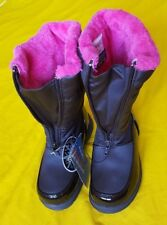 Weather Protectors By Totes Girls' Winter Snow Boots Size 1 M Color Black/Pink