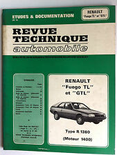 b)RTA du 5/1984; Renault Fuego TL et GTL/ Type R 1360 Moteur 1400