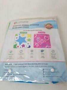 Holiday Stars Colorful Fun Kid Stuffed Animal Plush Style Toy Storage Bean Bag