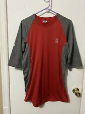 NWOT Anaheim Angels 3/4 Sleeve ThermaBase Majestic Pullover Baseball Shirt Sz M