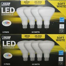 Feit LED Dimmable BR30 Flood Light Bulbs 10w 65w Replacement 8 Pack -NEW-