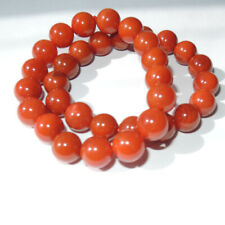 Fine Chinese South Red Agate Hand Grinding 17PCS 12MM Round Beads Vogue Bracelet