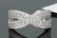14K WHITE GOLD .70 CT EGL CERTIFIED REAL DIAMOND BRIDAL WEDDING ENGAGEMENT RING