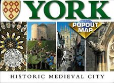 PopOut Map of York, Historic Medieval City, England