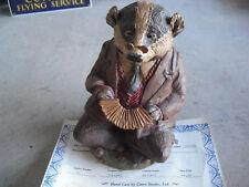 "Tom Clark Figurine Cairn Badger Ed 56 Signed Mint with Coa 7 1/4"" Tall"