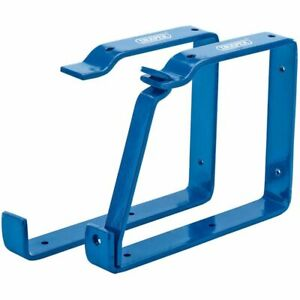 Draper Tools Leiterhalter Abschließbar Leiterhaken 2 Stk. Blau 22,5 x 17cm 24808