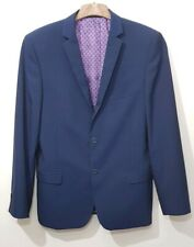 Ted Baker Endurance Blue Blazer Size 42 R Wool Blend