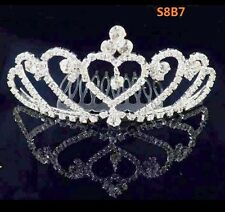 Rhinestone Crystal Tiara Hair Band Kid Girl Bridal Princess Crown Headband S8B7