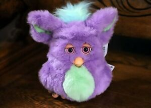 Funky Furby emoto tronic  62169 PURPLE GREEN with Pink Eyes - rare with box