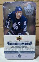 2017 Upper Deck Toronto Maple Leafs 100th Centennial Set Hockey Cards Tin