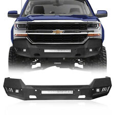 Black Steel Front Bumper Withled Light Bar Fit Chevy Silverado 1500 2007 2018 Fits 2013 Silverado 1500