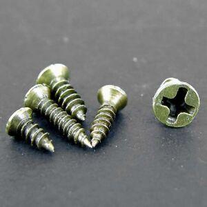 Tiny Small Antique Brass Plated Pozi Head Screws M2x6 M2.6x8 M2x8 M2x10 M3x8