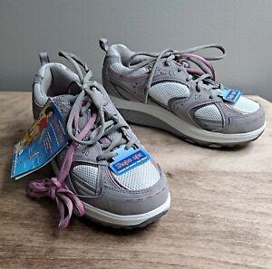 Sketchers Shape Ups Gray Pink Women Size 8.5 Walking Shoes 11806GYPK  NEW NWT