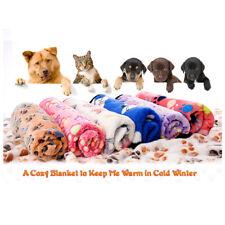Soft Warm Fleece Lovely Design Paw Print Pet Blanket for Dog Cat Mat Bed Sofa