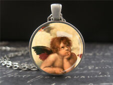 Guardian Angel Necklace Cherub Art Jewelry Gifts for Men Women Kids Grandparents