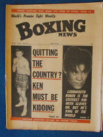 Boxing News Magazine - 18/6/71 - Ken Buchanan & Ruben Olivares Cover
