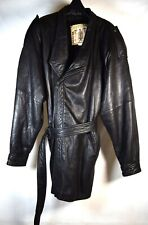 Direction of Midway Mens Leather Coat Jacket Zip Up With Belt M