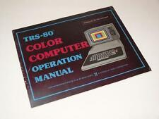 Radio Shack Tandy trs-80 COLOR COMPUTER operazione manuale ~ softback LIBRO (1)