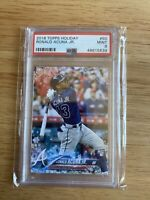 2018 Topps Holiday Ronald Acuna Jr PSA 9 Rookie Card Braves