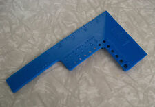 vintage Exxon promo gadget tool paint shield drill & bolt gauge ruler blue