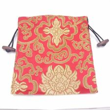 1 PCS Red Silk Cloth Jewelry Gift Bags Pouches 16X18cm Wood Clasp Drawstring