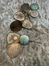 Retro Vintage Dressing Table Brush and Hand Mirror sets