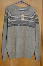 "Men's ""Urban Pipeline"" Size XL, Hickory color, Geometric, Long Sleeved Sweater"