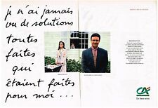 PUBLICITE ADVERTISING  1992  CREDIT AGRICOLE  BANQUE  (2 pages)  MADAME DAVAINE