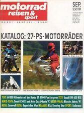 MRS9109 >> Test SUZUKI DR 650 RSE >> motor reisen & sport 9/1991