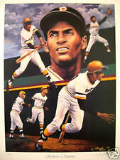 "ROBERTO CLEMENTE ""PIRATES""  LTD ED LITHOGRAPH BY ARTIST ANGELO MARINO COA"
