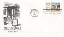 TOURO SYNAGOGUE FIRST SYNOGUE IN AMERICA 1763 NEWPORT RI ARTMASTER U/A FDC