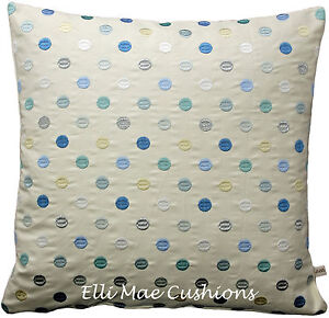 GP & J Baker Tabley Spot Blue Embroidered Designer Fabric Cushion Pillow Cover